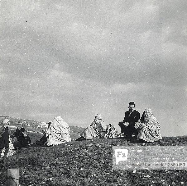 Muslim families  Sarajevo  Bosnia and Hercegovina  Yugoslavia  1939. Artist: Unknown