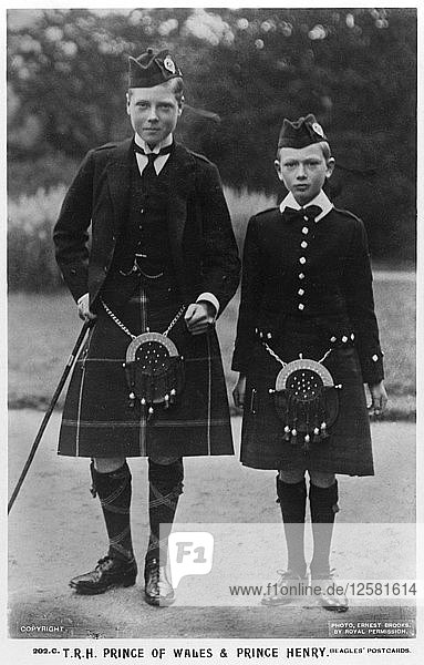 The Prince of Wales and Prince Henry  c1910(?).Artist: Ernest Brooks