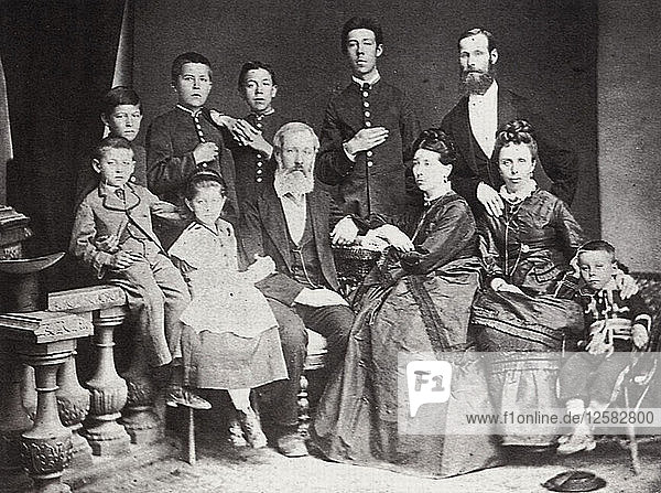 The family of Russian author and playwright Anton Chekhov  Taganrog  Russia  1874. Artist: S Isakovich