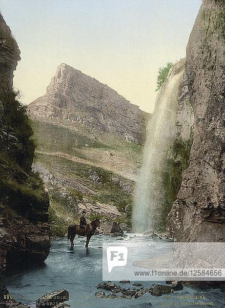 Waterfall near Kislovodsk  Russia  c1895. Artist: Anon