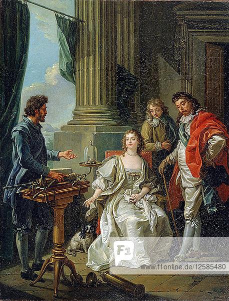 Pneumatic Experiment  1777. Artist: Amédée van Loo