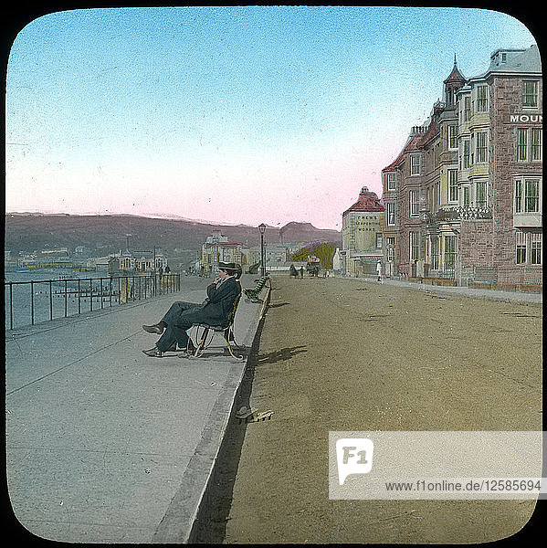 Esplanade  Penzance  Cornwall  late 19th or early 20th century. Artist: Church Army Lantern Department