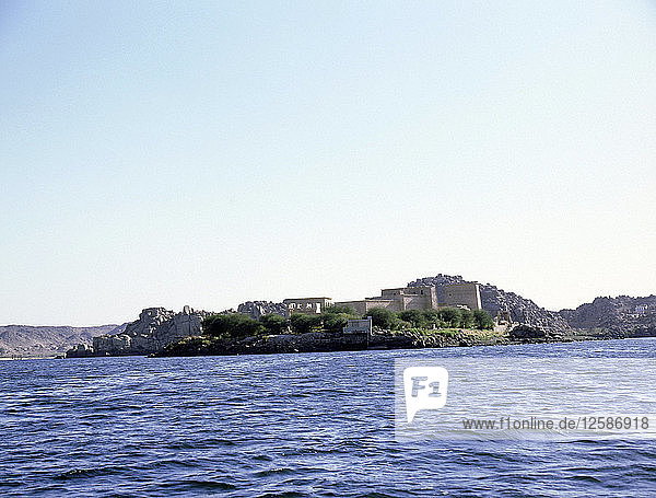 View of the Island of Philae from the Nile.