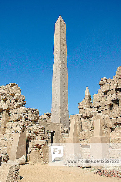 The obelisk raised by Tuthmosis II.