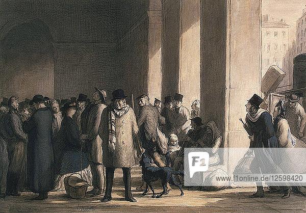 At the Gare Saint-Lazare  1860s.