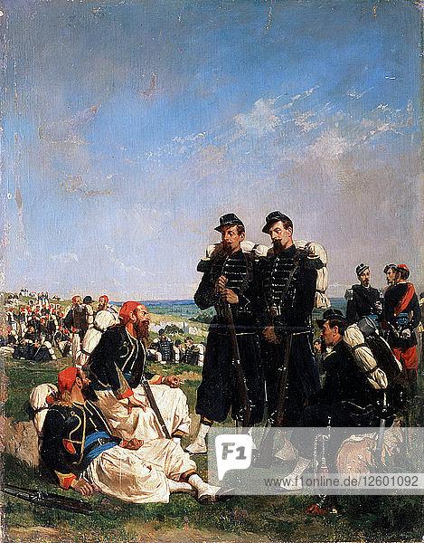 A French camp near Sevastopol  19th century. Artist: Paul Alexandre Protais