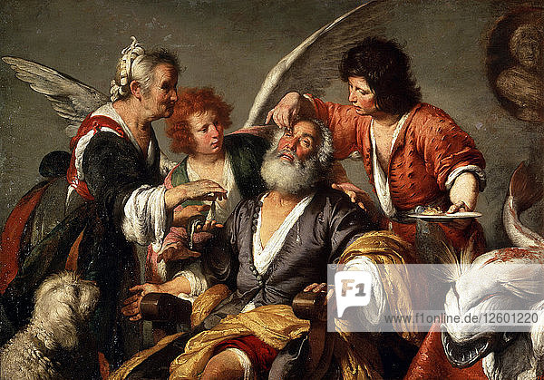The Healing of Tobit  c1635. Artist: Bernardo Strozzi