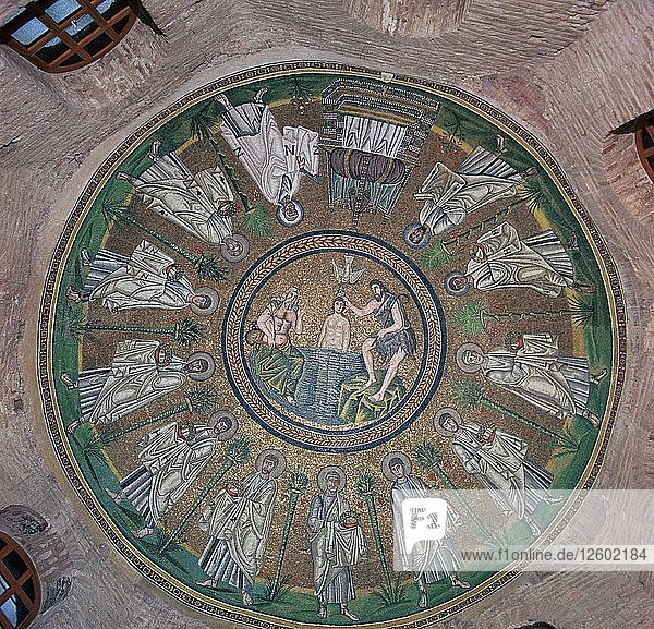 Mosaic in the dome of the Bapistry of the Arians  5th century. Artist: Unknown