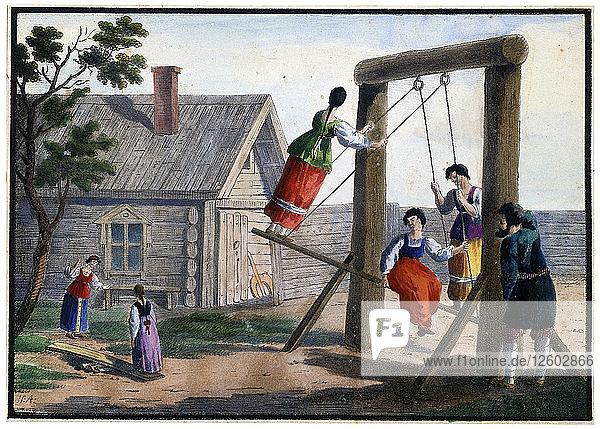 Country Amusements  1825. Artist: Pyotr Alexandrov