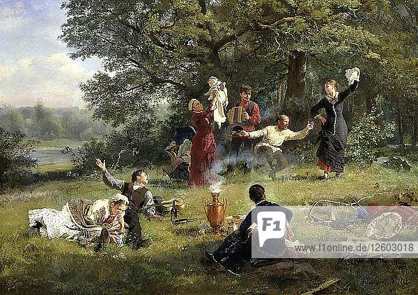 Sunday  1884. Artist: Alexei Ivanovich Korzukhin