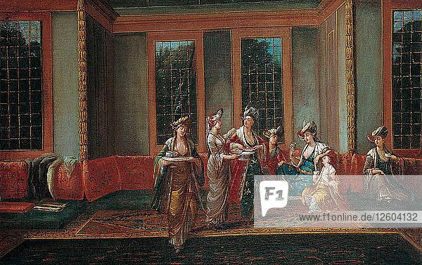 Women Drinking Coffee  1720s. Artist: Vanmour (Van Mour)  Jean-Baptiste (1671-1737)