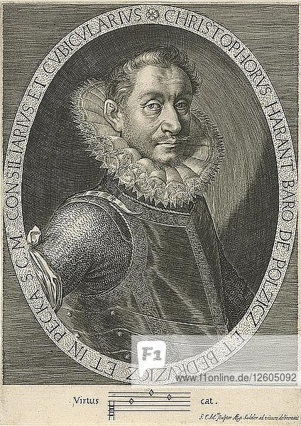 Portrait of the Composer Krystof Harant (1564-1621)  ca. 1600. Artist: Sadeler  Aegidius (1575-1629)
