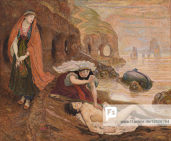 The finding of Don Juan by Haidée  1869-1870. Artist: Brown  Ford Madox (1821-1893)