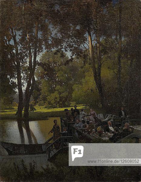 Luncheon in the Park. Artist: Sukhodolsky  Pyotr Alexandrovich (1835-1903)