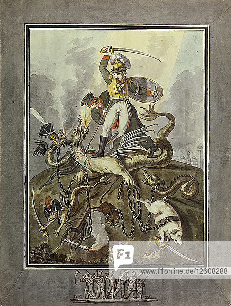 1812. Allegory  1813. Artist: Tupylev  Ivan Philippovich (1758-1821)