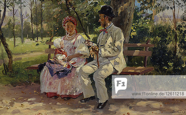 On the Boulevard  1894. Artist: Makovsky  Vladimir Yegorovich (1846-1920)