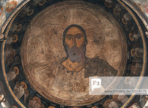 Christ Pantocrator  ca 1350. Artist: Anonymous