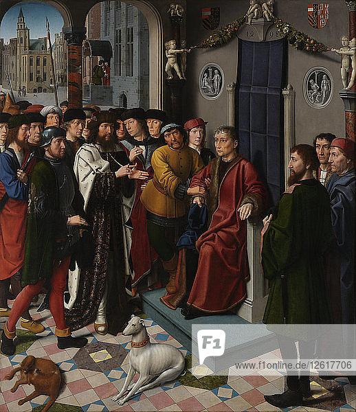 The Judgment of Cambyses (left panel)  1498. Artist: David  Gerard (ca. 1460-1523)