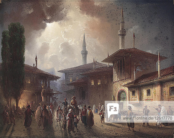 The Bakhchisaray Khans Palace  1857. Artist: Bossoli  Carlo (1815-1884)