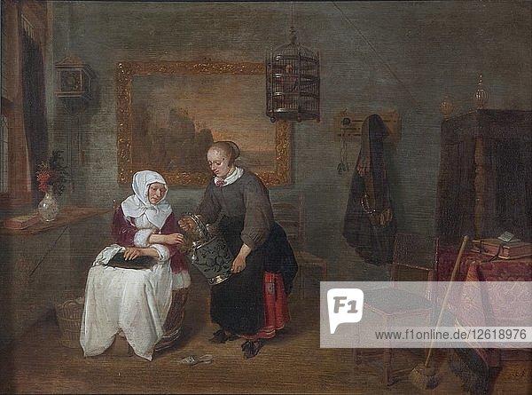 A Dutch interior  1640-1658. Artist: Gerritsz Quiringh van Brekelenkam