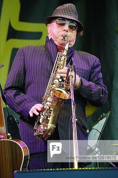 Van Morrison  Love Supreme Jazz Festival  Glynde Place  East Sussex  2015. Artist: Brian OConnor.