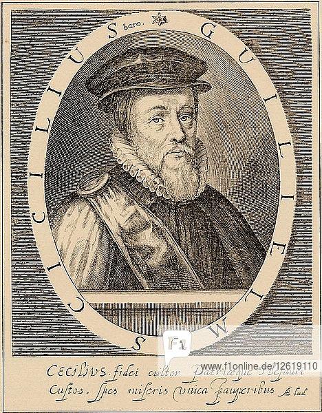 William Cecil  1st Baron Burghley (1520-1598)  English statesman  1889. Artist: Unknown