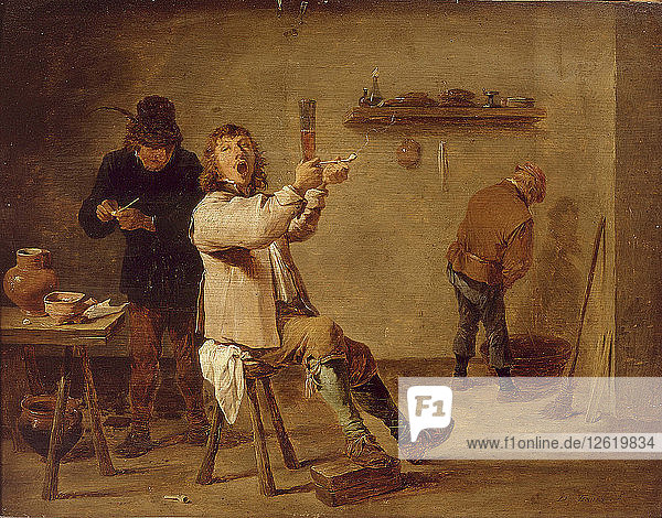 The smokers. Artist: Teniers  David  the Younger (1610-1690)