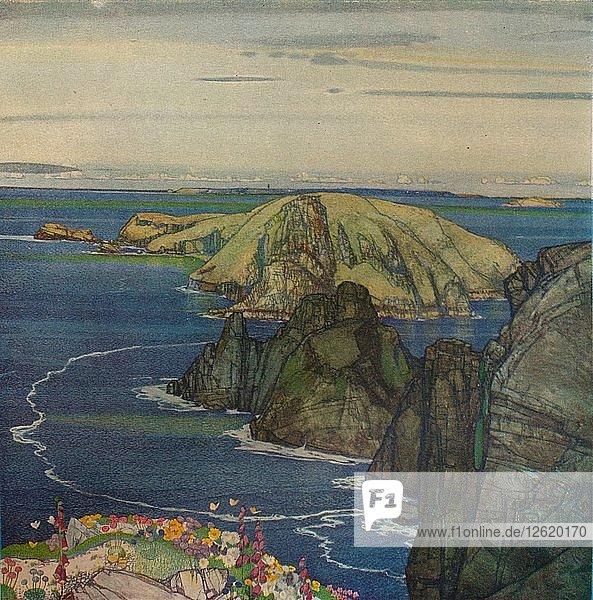 The Island of Brecqhou  Off Sark  c1921. Artist: Edward Reginald Frampton.