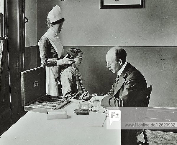 Consulting Room  Norwood School treatment centre  London  1911. Artist: Unknown.