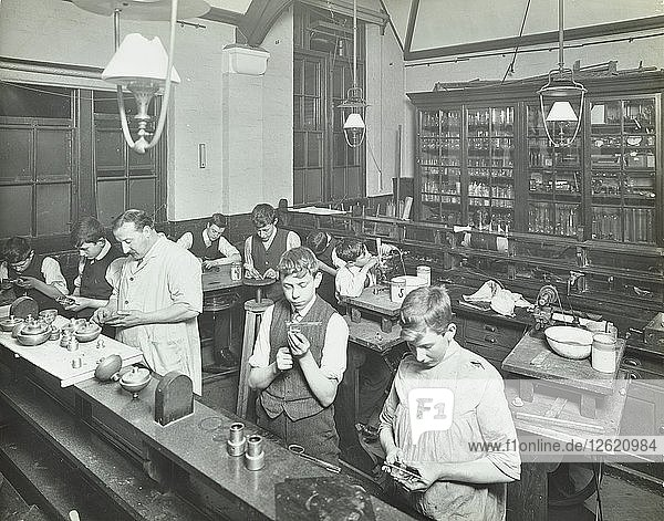 Technical instruction  Haselrigge Road School  Clapham  London  1914. Artist: Unknown.