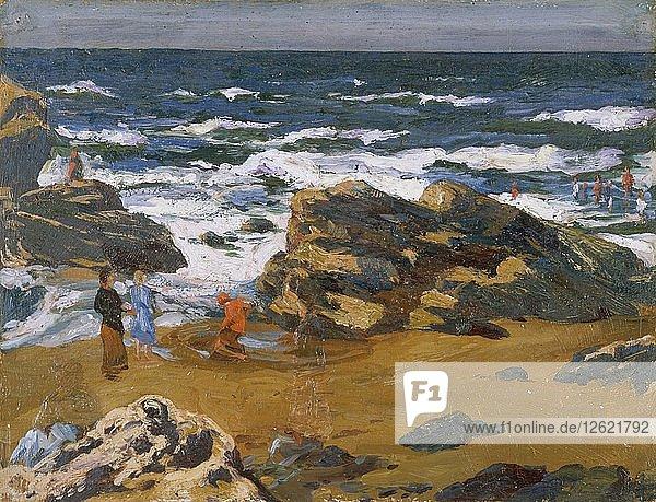 Llangranog  a fresh morning  1893-1934. Artist: Christopher Williams