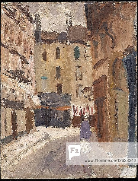 A street in Nantes  1920-1930. Artist: Christopher Wood