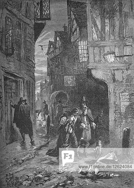 The Great Plague: scenes in the streets of London  1665-1666 (1905). Artist: Unknown.