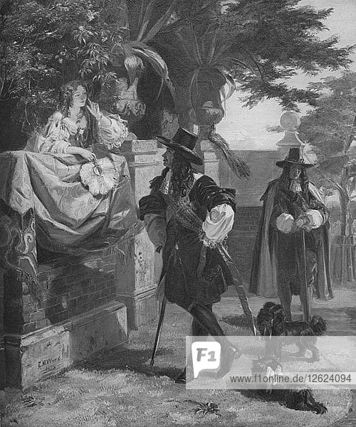 Charles II and Nell Gwynn  17th century (1905). Artist: Unknown.