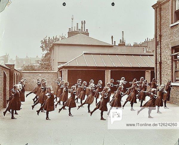 Exercise class  Buckingham Street School  Islington  London  1906. Artist: Unknown.