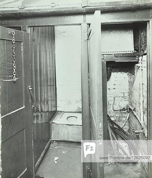 Outside toilet  Belleville Road School  London  1936. Artist: Unknown.