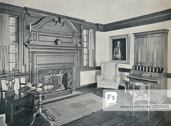 The Living Room of the Francis Corbin House  at Edenton  built in 1758  1930. Artist: Unknown.