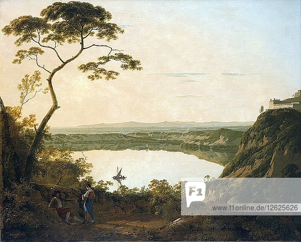 The lake of Albano  1790. Artist: Joseph Wright of Derby.