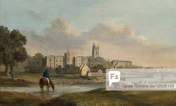 Cardiff from the West  1820-1874. Artist: Alexander Wilson.