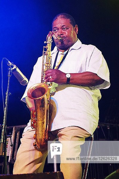Pee Wee Ellis  Love Supreme Jazz Festival  Glynde Place  East Sussex  2015. Artist: Brian OConnor.