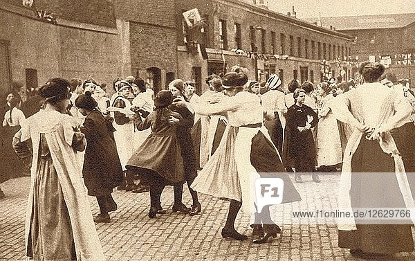Dancing celebrates the end of war  1918 (1935). Artist: Unknown.