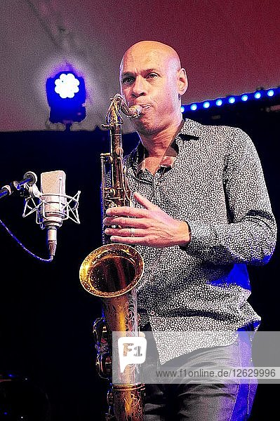Joshua Redman  Love Supreme Jazz Festival  Glynde Place  East Sussex  2015. Artist: Brian OConnor.