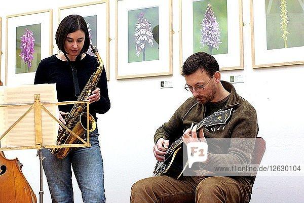 Allison Neale and Dave Warren  Clocktower Cafe  Croydon  Surrey  2008. Artist: Brian OConnor.