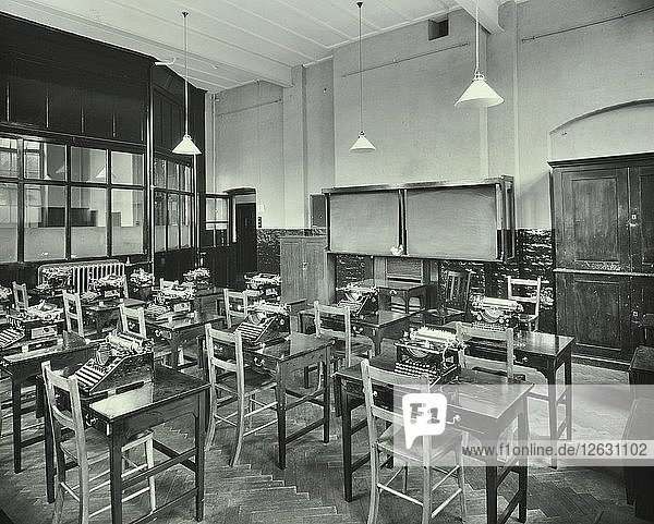 Typewriting room  Balham and Tooting Commercial Institute  London  1931. Artist: Unknown.