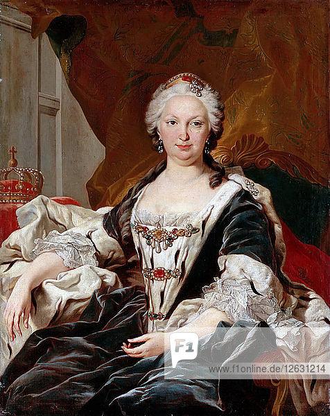 Elisabeth Farnese (1692-1766)  Queen of Spain. Artist: Van Loo  Louis Michel (1707-1771)