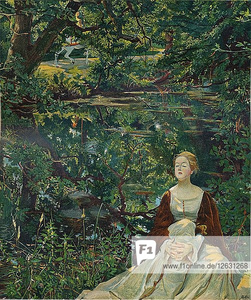From a painting by Byam Shaw  c1899. Artist: Byam Shaw.