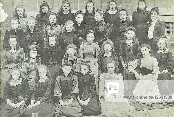 Class photograph  Bloomfield Road Girls School  Plumstead  London  1891. Artist: Unknown.