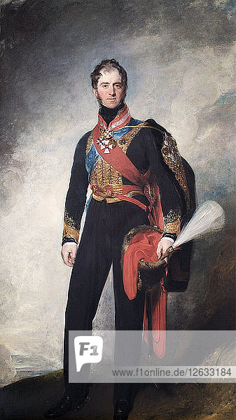 Portrait of Henry William Paget  1st Marquess of Anglesey  British soldier  1818. Artist: Thomas Lawrence.