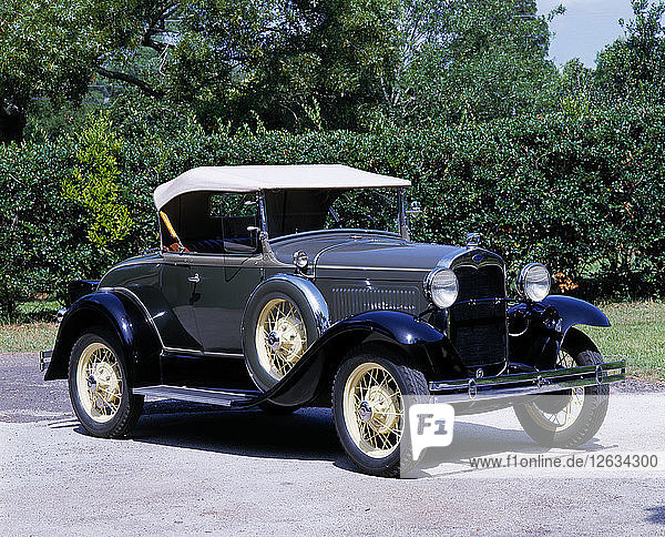1930 Ford Model A roadster. Artist: Unknown.