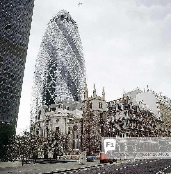 30 St Mary Axe  City of London  2000s. Artist: Unknown.